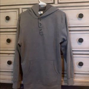 GRAY UNISEX HOODIE WARM BUT NOT HEAVY